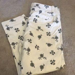 Loft Riviera Cropped Pants Julie Curvy New 6